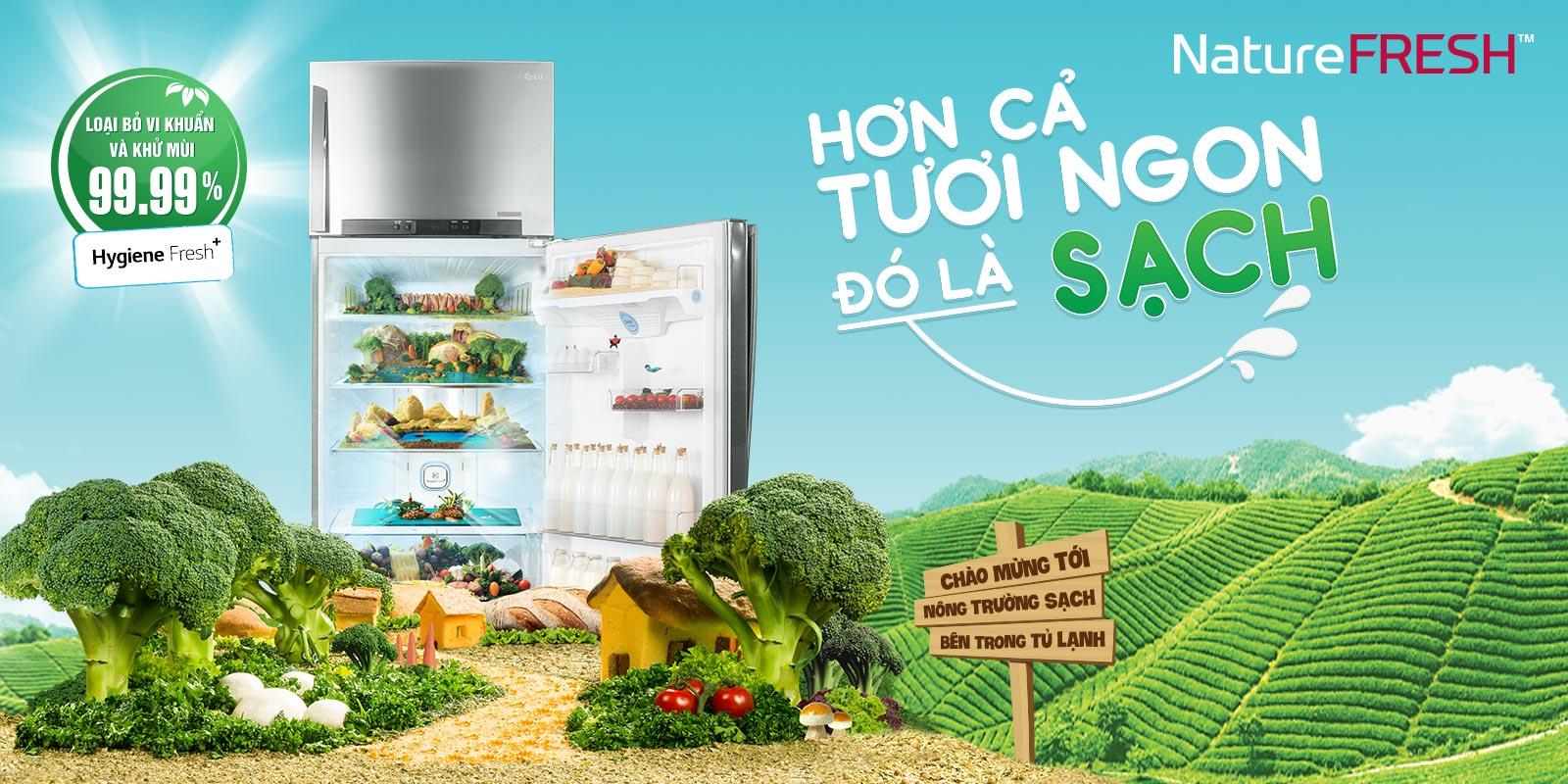 Tìm hiểu về bộ lọc Hygiene Fresh+ mới trên tủ lạnh LG