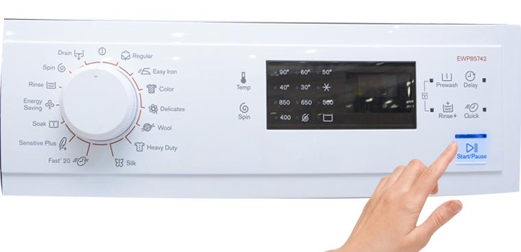 Tiến hành các chu trình giặt ở nhiệt độ bình thường